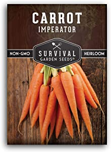 Survival Garden Seeds - Imperator 58 Carrot Seed for Planting - Packet with Instructions to Plant and Grow Your Home Vegetable Garden - Non-GMO Heirloom Variety