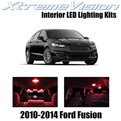 Xtremevision Interior LED for Ford Fusion 2010-2014 (5 Pieces) Red Interior LED Kit + Installation Tool: Automotive