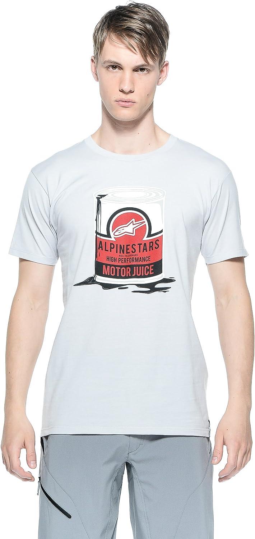 Alpinestars T-Shirt Motorjuice tee - Camisa de Bolos, Color Plateado, Talla M: Amazon.es: Ropa y accesorios