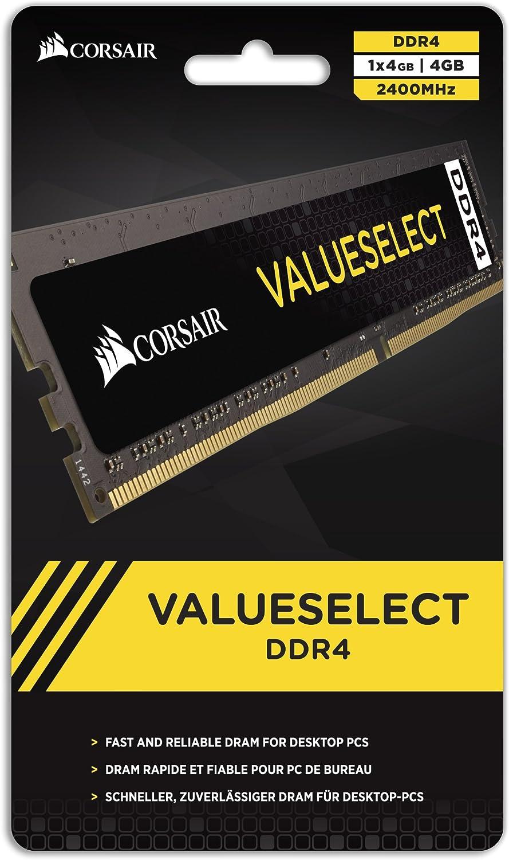 Corsair DDR4 Value Select Tarjeta de Memoria de 8 GB Color Negro