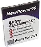 Battery Replacement Kit for Garmin Nuvi 2639 with Installation Video, Tools, and Extended Life Battery.