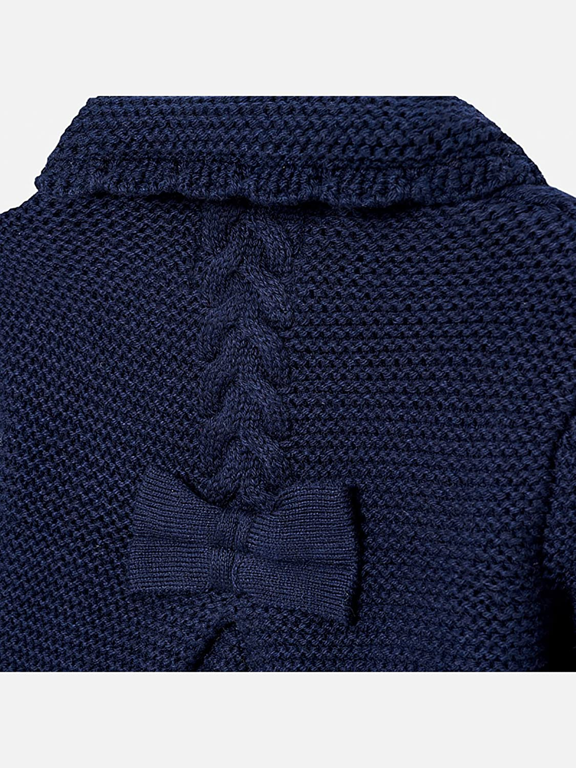 Mayoral Navy Knit Coat for Baby-Girls 2476
