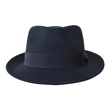 7324377169257 B S Premium Doyle - Teardrop Fedora Hat - 100% Wool Felt - Crushable for  Travel