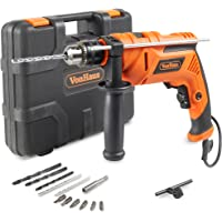 VonHaus 810W Hammer Impact Drill Driver Kit Auxiliary Handle Corded Electric Variable Speed 13mm | BMC + Drill Bits | 13pc Accessory Kit