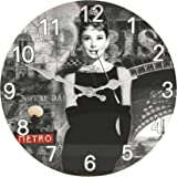 Hometime Glass Wall Clock 30cm Audrey Design