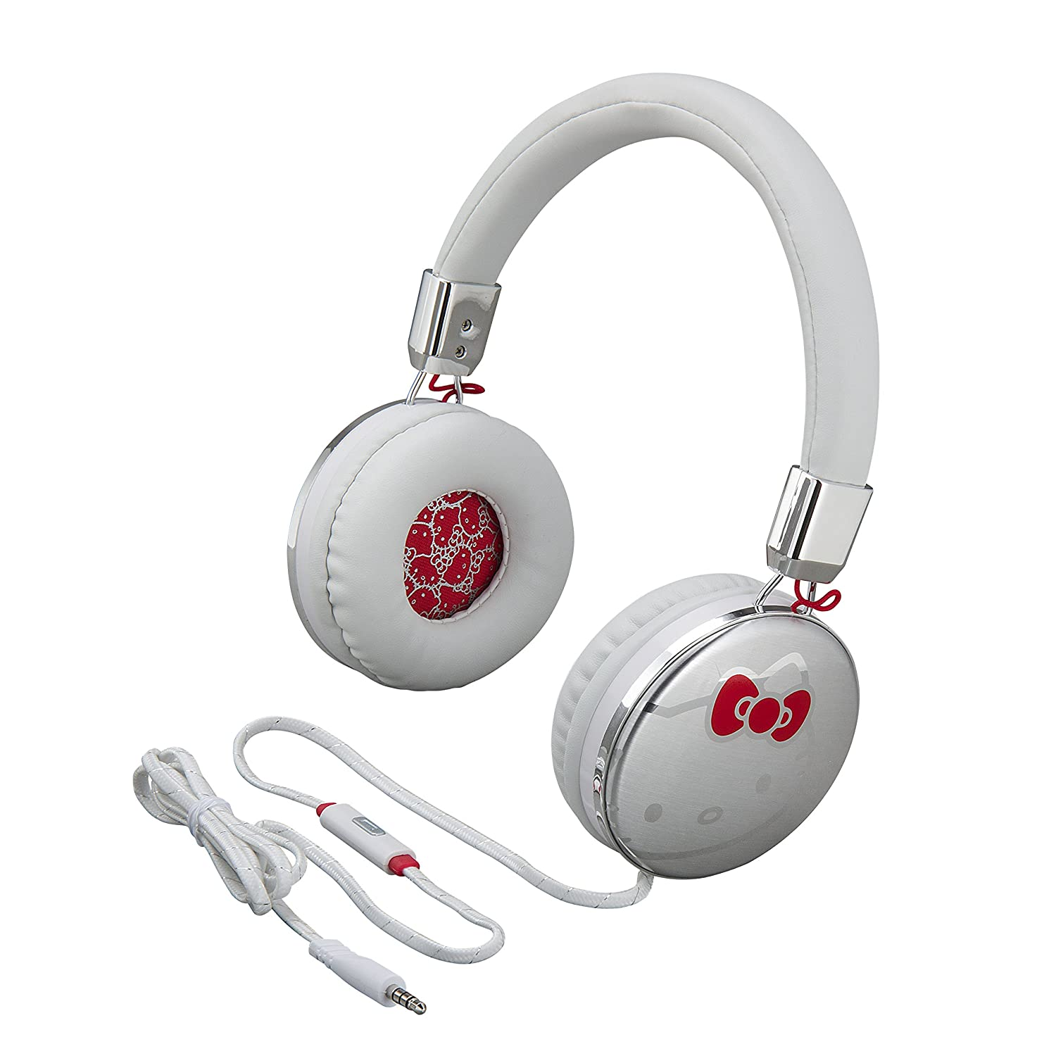 Hello Kitty Fashion Headphones with Built in Microphone