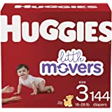 Diapers Size 3 - Huggies Little Movers Disposable Baby Diapers, 144ct, Mega Colossal Pack