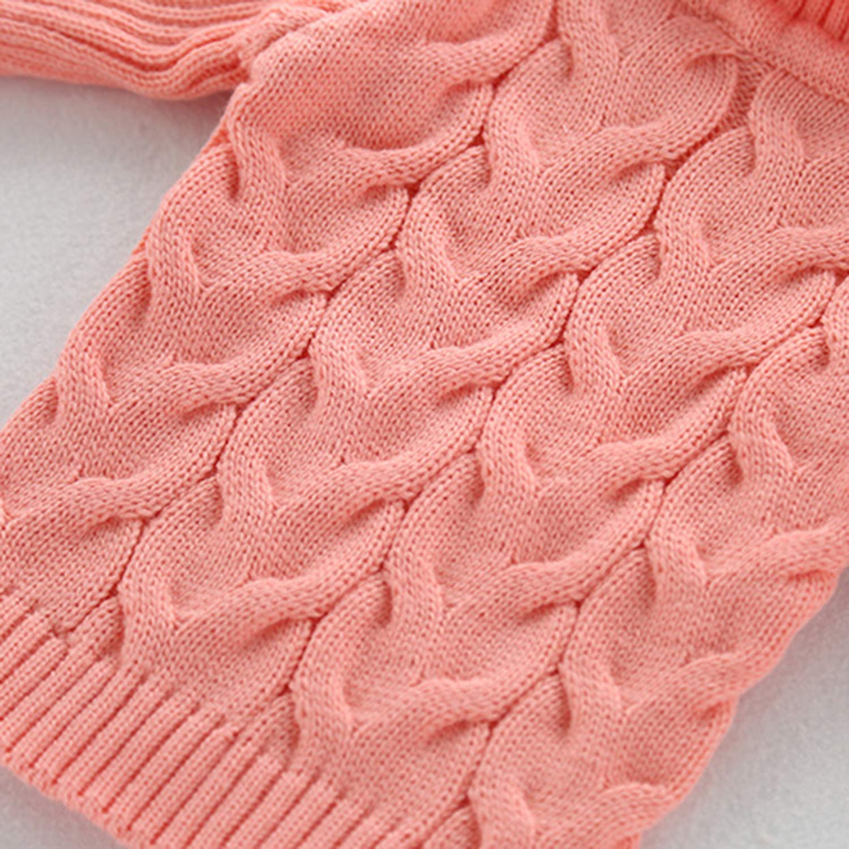 Evelin LEE Kids Cute Long Sleeve Turtleneck Winter Warm Knitted Christmas Sweater