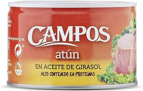 CAMPOS, Conserva de atún en aceite de girasol - lata de 400 g (320401002)