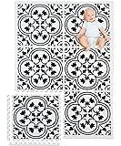 Eggyo Premium Stylish Foam Baby Mat, 72 by 48 Inches, White and Black