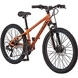 Schwinn High Timber Youth/Adult Mountain Bike, Aluminum and Steel Frame Options, 7-21 Speeds Options, 24-29-Inch Wheels…