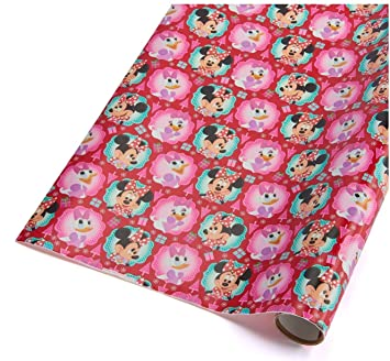 disney christmas wrapping paper minnie mouse daisy duck holiday paper gift greetings 1 roll 7 yards