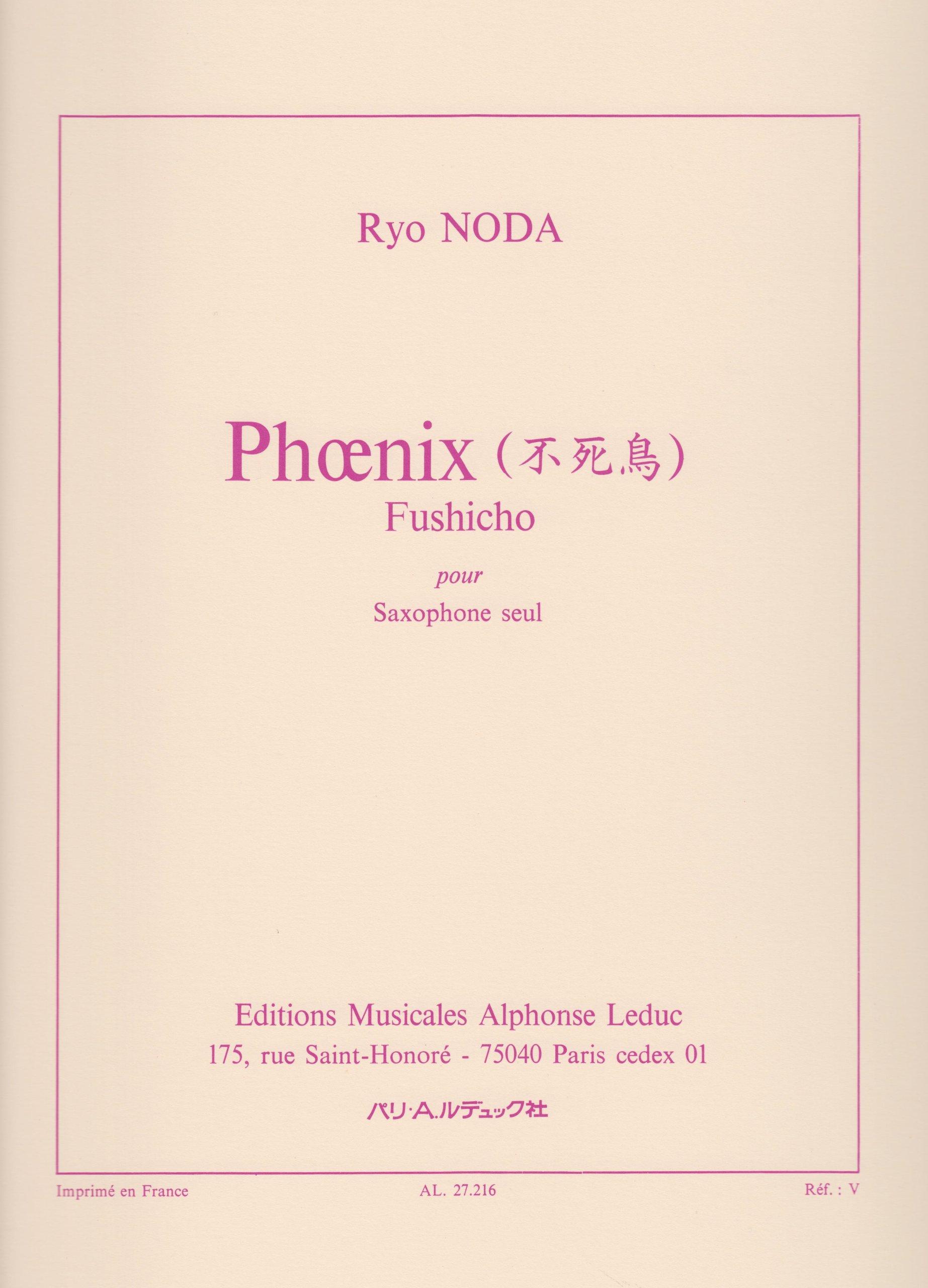 Phoenix for Solo Saxophone by Ryo Noda
