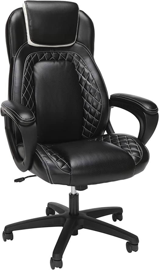 OFM Racing Style SofThread Leather High Back Office Chair
