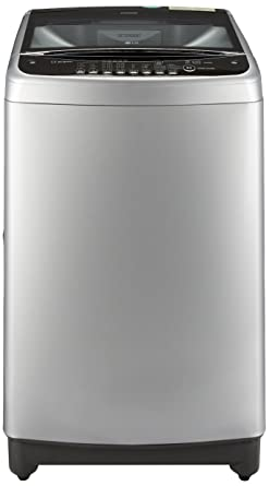 LG 9.0 kg Fully-Automatic Top Loading Washing Machine (T1077TEEL1, Free Silver)