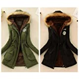 NUWFOR Coat Parka Jacket Womens Hooded Warm with