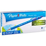Paper Mate Flexgrip Ultra Retractable Ballpoint Pens, Fine Point, Blue Ink, 12-Pack