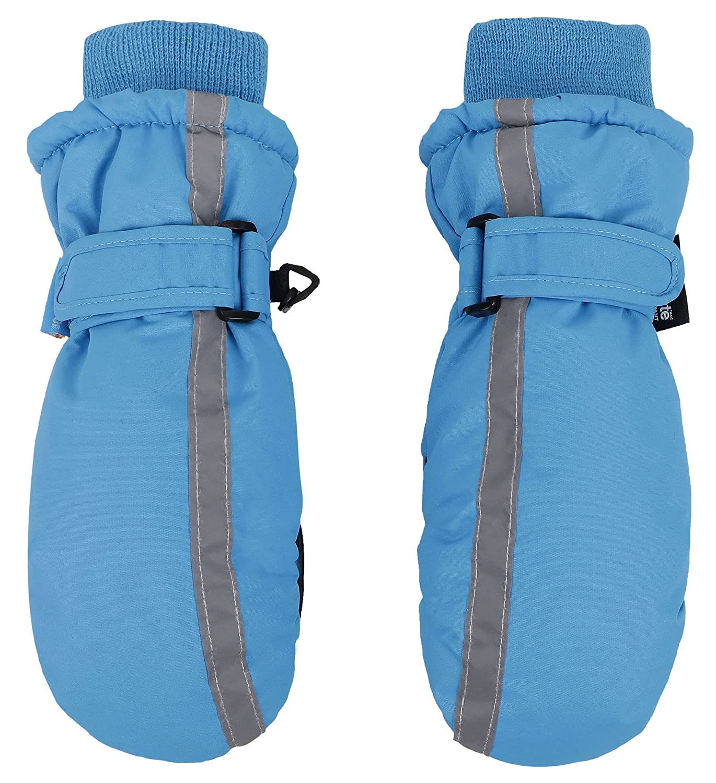 SimpliKids Kids Thinsulate Insulated Water Snow Resistant Winter Ski Mitten Gloves