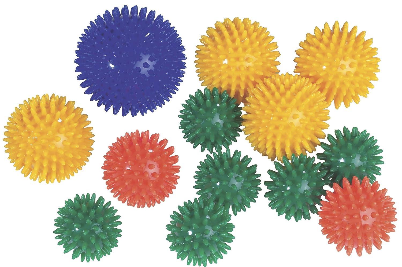 Igelball Massageball Noppenball 8cm 12er-Set 6 Farben je 2 Stück