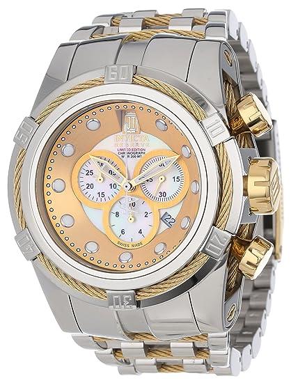 Invicta 12952 - Reloj, correa de acero inoxidable color dorado: Amazon.es: Relojes