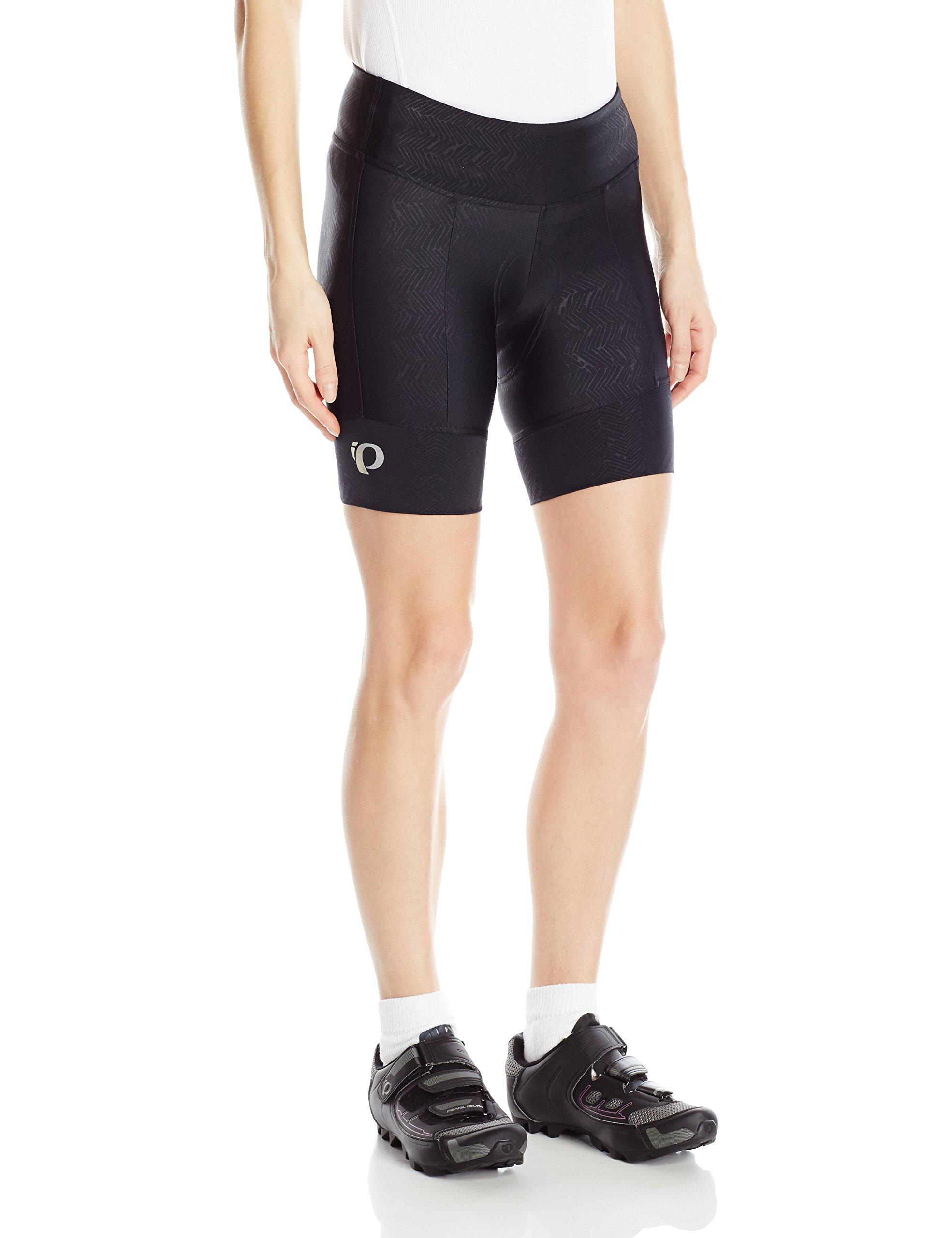Pearl iZUMi Women's Pursuit Attack Shorts, Black Texture, X-Small