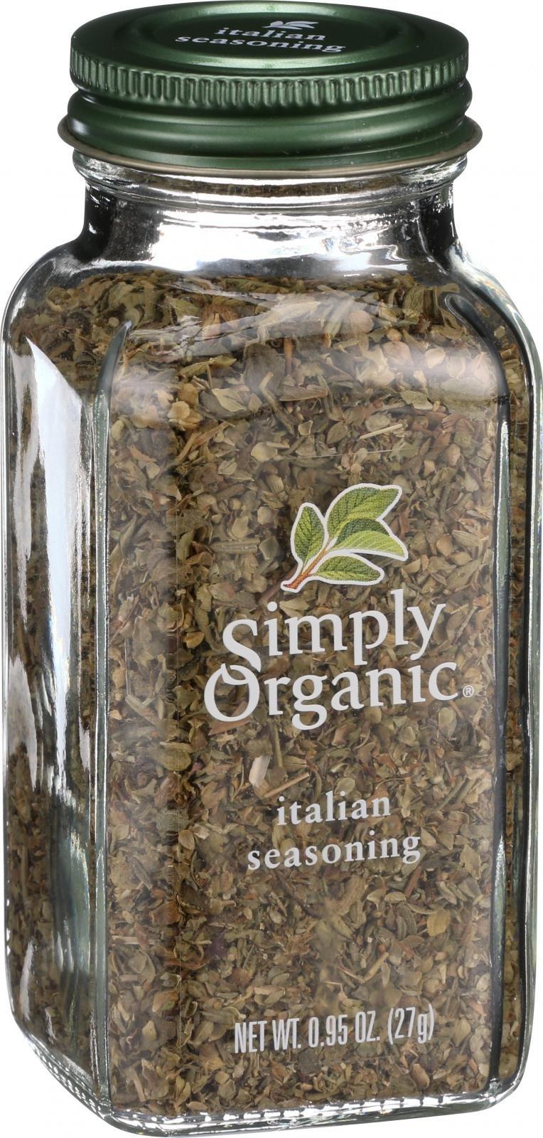 Simply Organic Italian Seasoning - Organic - .95 oz - 95%+ Organic -