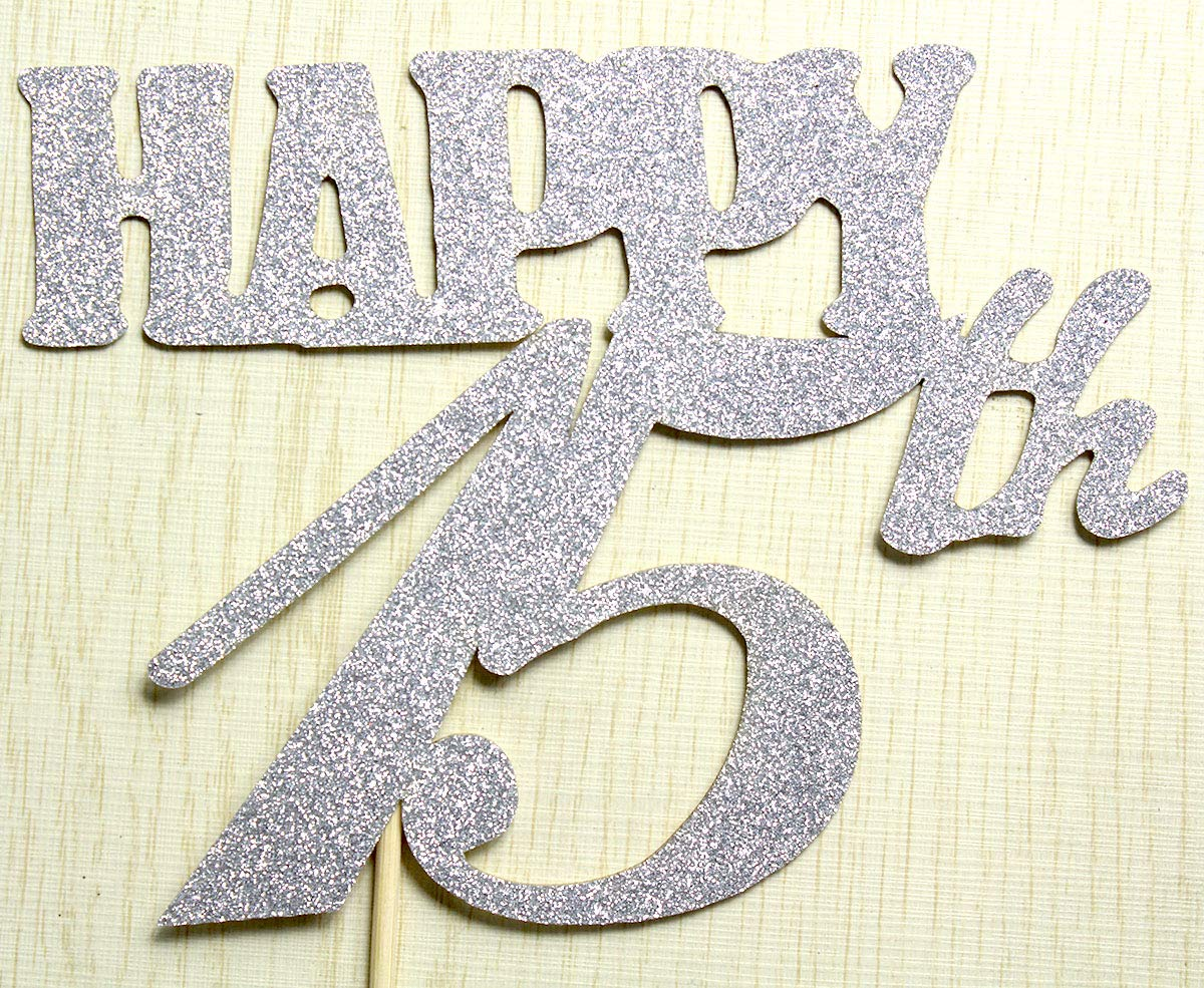 Cheers to 15 Years Banner and Happy 15th Cake Topper Silver Glitter for 15th Birthday Wedding Anniversary Party Decorations Supplies