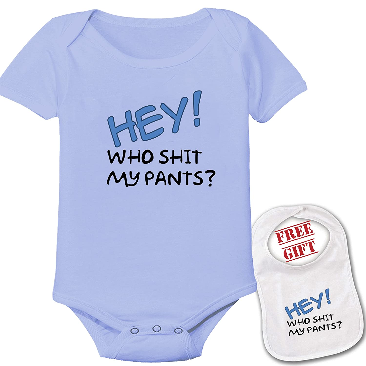 Amazon Hey Who Shit My Pants Cute Custom boutique Baby