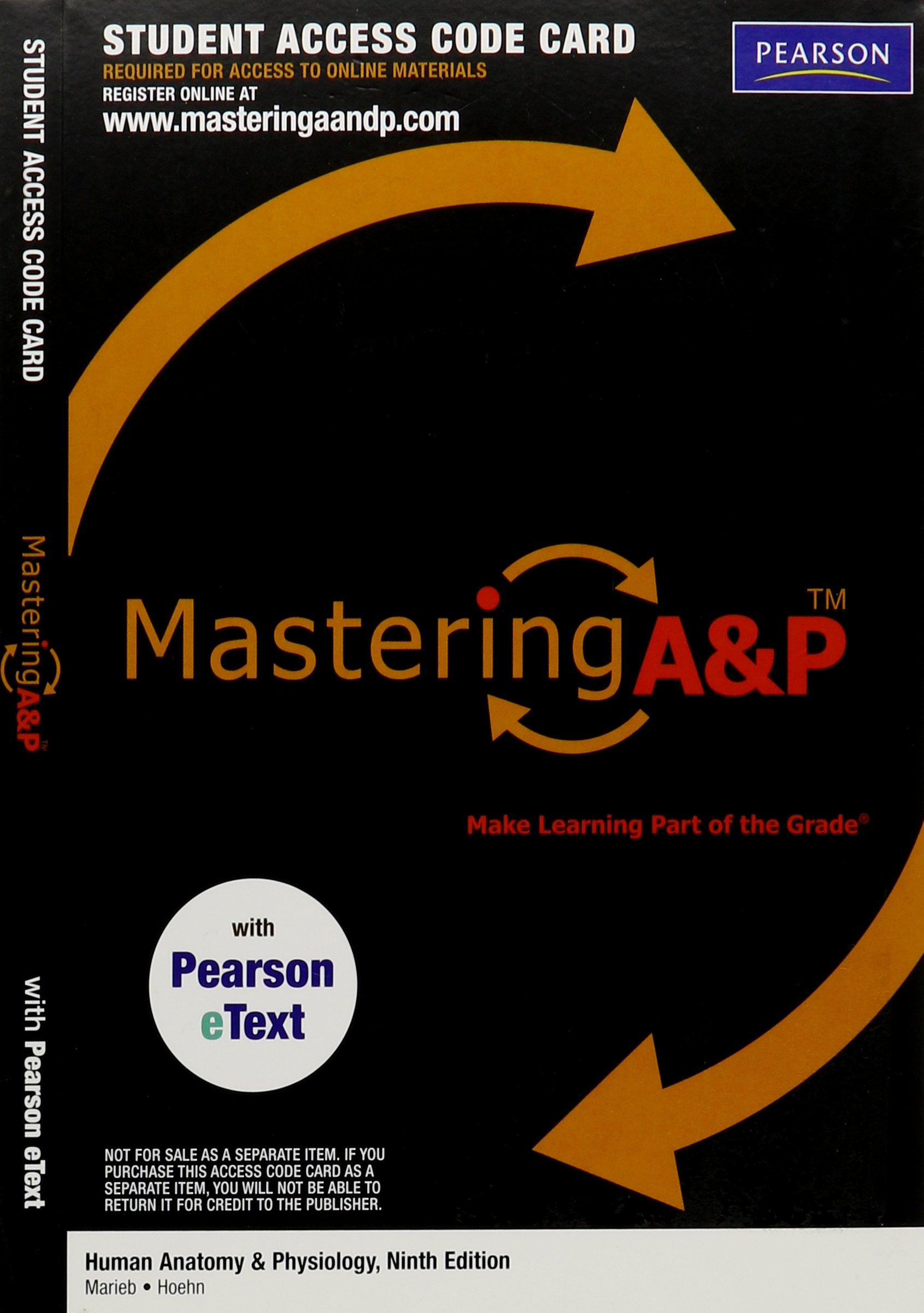 Buy Mastering A&P with Pearson eText -- Valuepack Access Card -- for ...