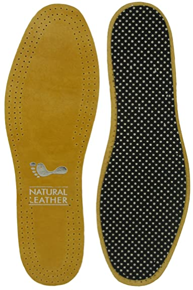 Ggfootcare Leather Insoles Deluxe Amazoncouk Shoes Bags