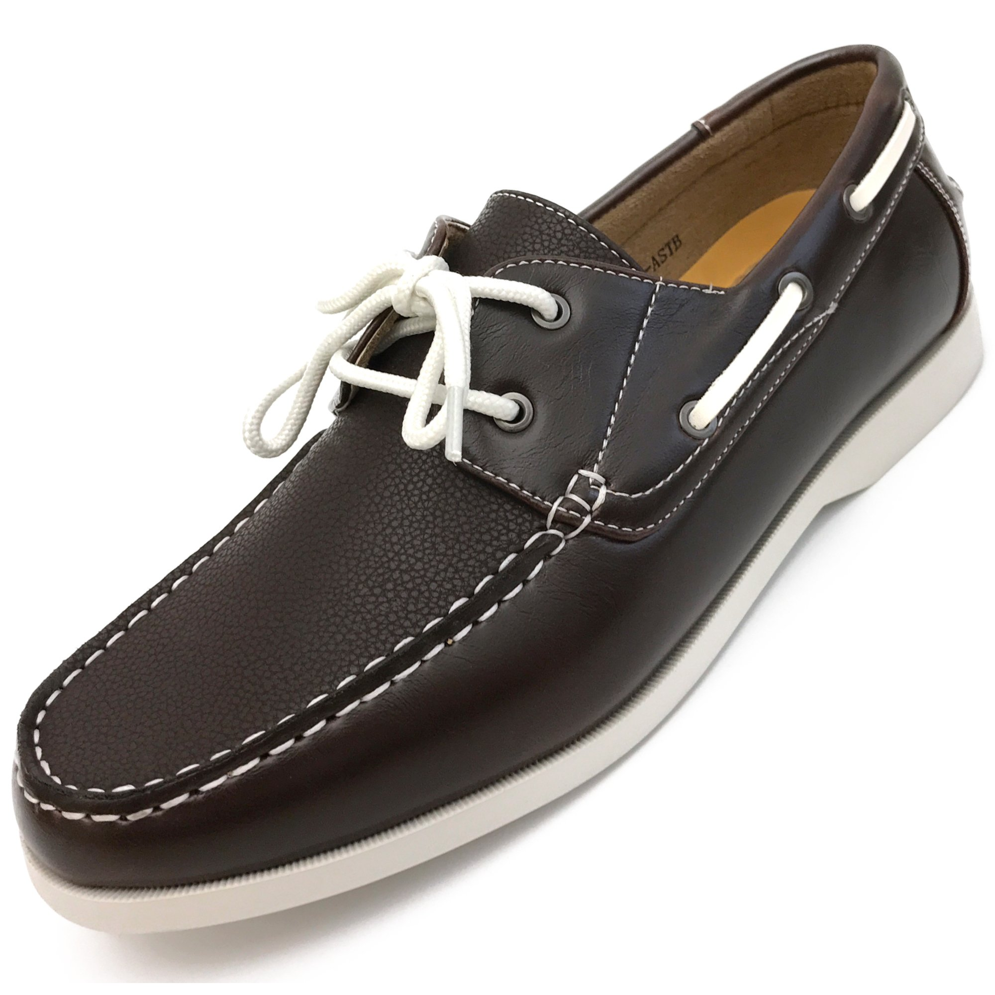 Easy Strider Men's Boat Shoes – Coffee - Size 7.5