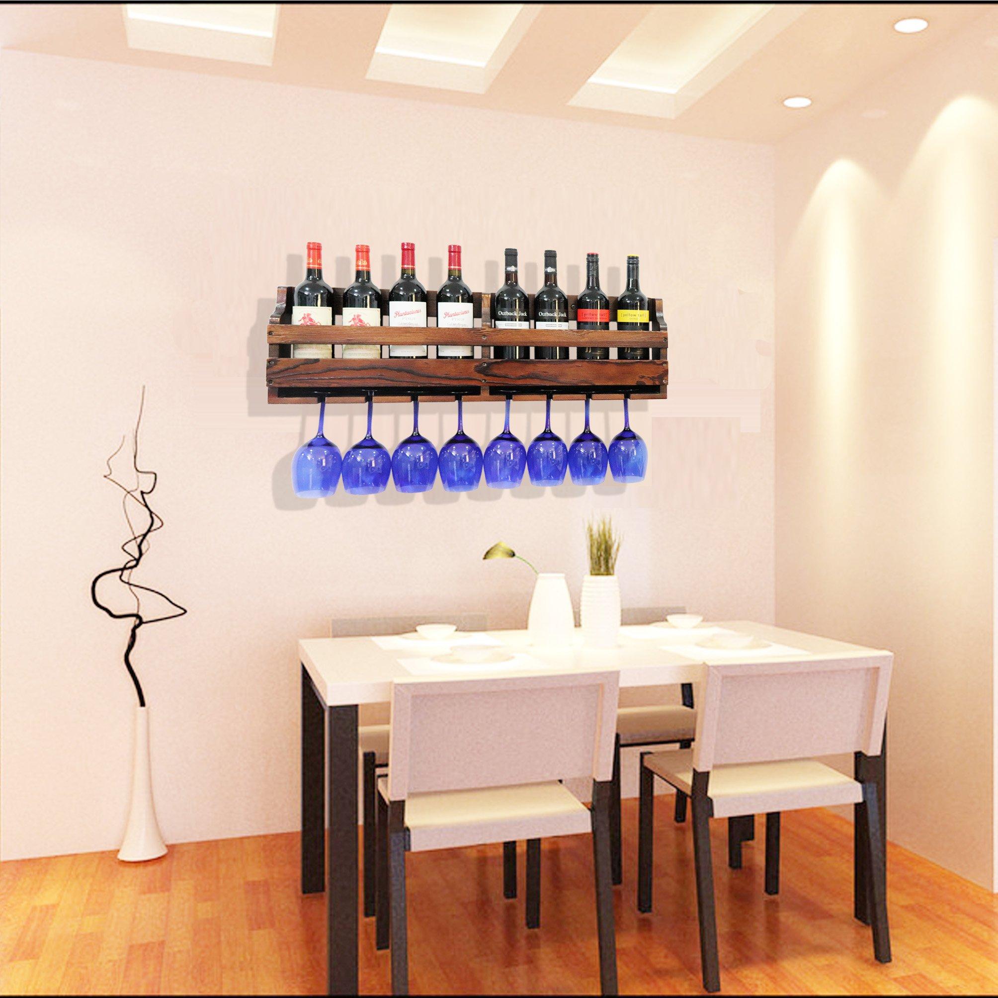 Tuorui Wine Rack Wall Mountedwine Glass Wine Bottle Display Rack