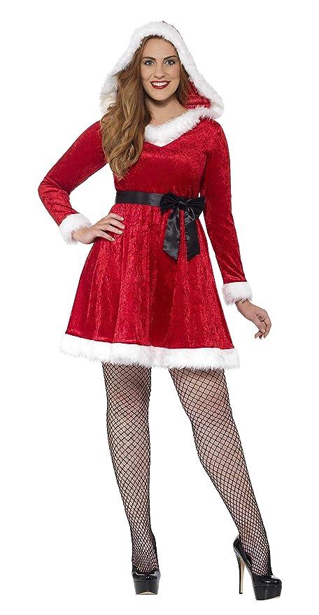Smiffys Disfraz de Mamá Noel con Curvas, Rojo, con Vestido y ...