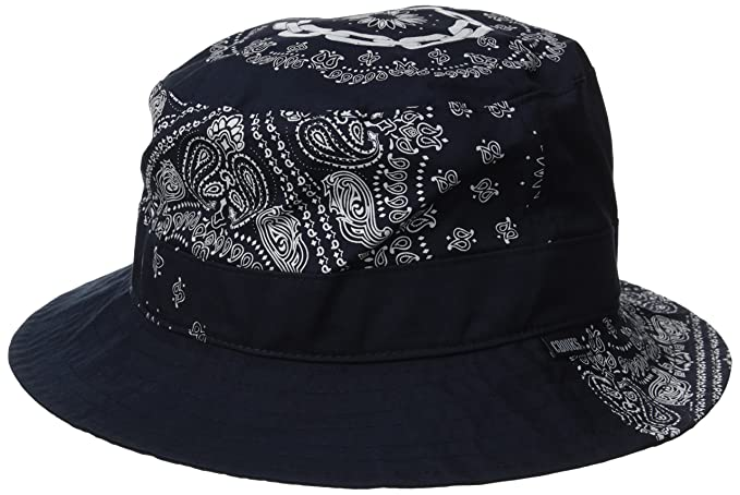 1e5cd0e2cf70c Amazon.com  Crooks   Castles Men s Woven Bucket Hat-Paneled Pais ...