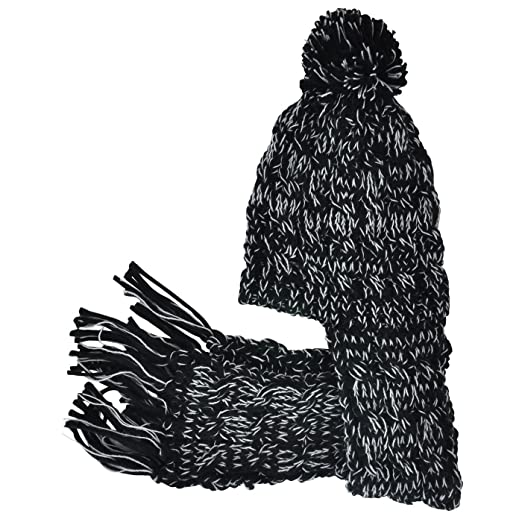 9ddb0ce8c70 Image Unavailable. Image not available for. Color  Neon Eaters Girls Knit  Scarf Winter Hat Womens - Black - Ski Snowboard Kids Scarves Toque
