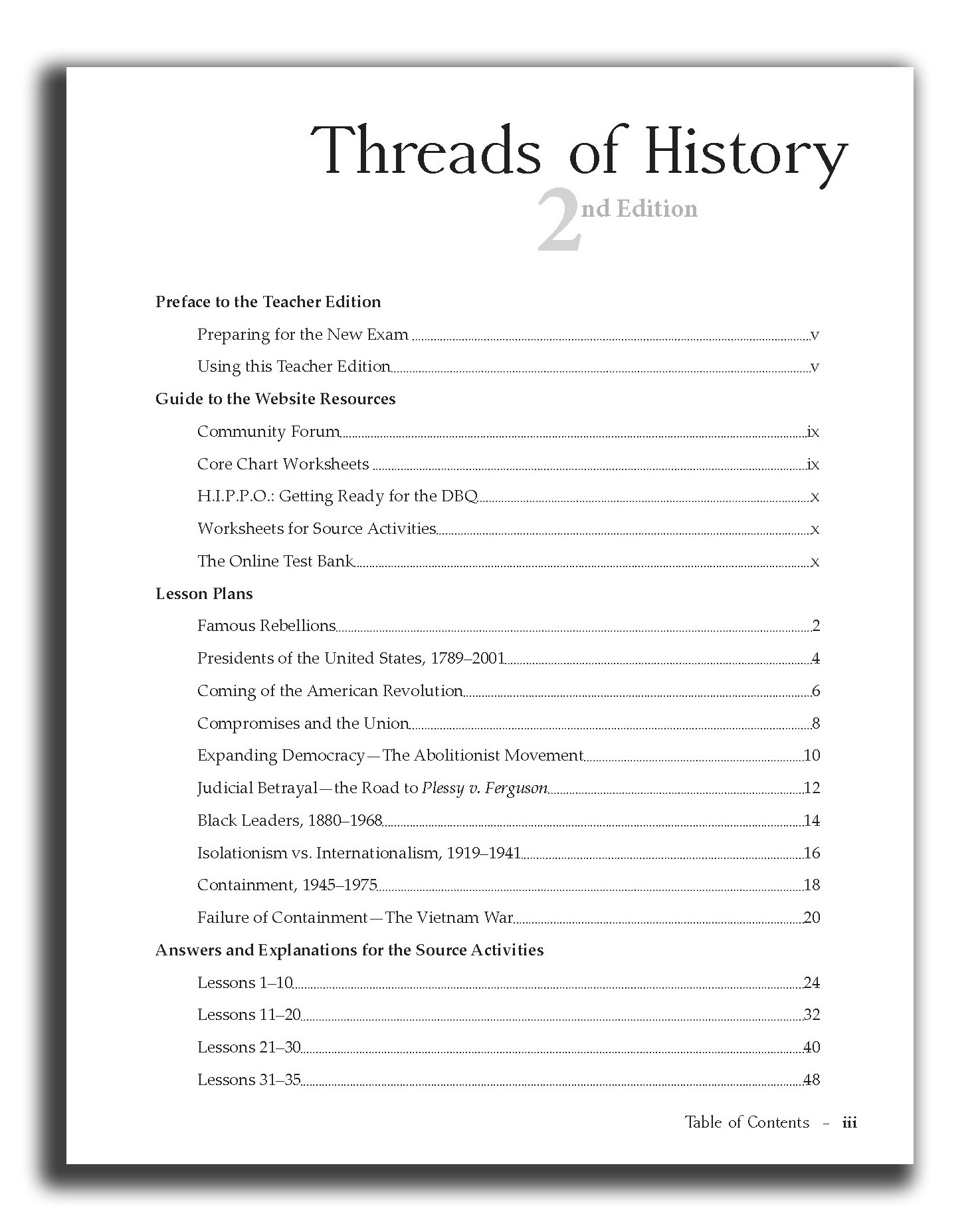 Threads of History Teacher Edition: Michael Henry: 9780990547112:  Amazon.com: Books