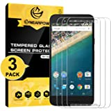 NEARPOW [3 Pack] LG Nexus 5X Screen Protector, [Tempered Glass] Screen Protector with [9H Hardness] [Crystal Clear] [Easy Bubble-Free Installation] [Scratch Resist]
