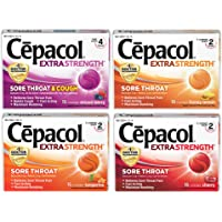 4 x 16-Count Cepacol Extra Strength Lozenges Mixed Flavor Variety Pack