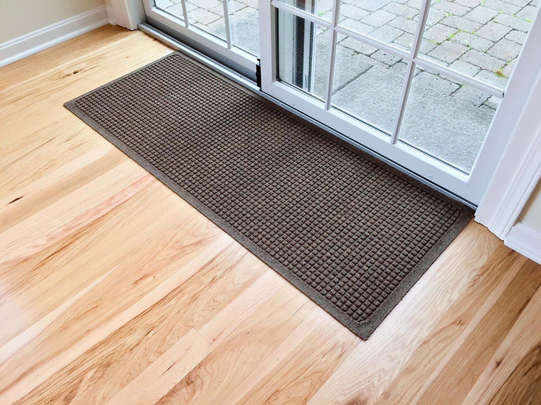 Hudson Exchange Waterhog Fashion Polypropylene Fiber Entrance Indoor/Outdoor Floor Mat Runner, 60'' L x 22'' W, 3/8'' Thick, Dark Brown