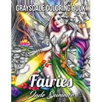 Fairies Grayscale: An Adult Coloring Book with Beautiful