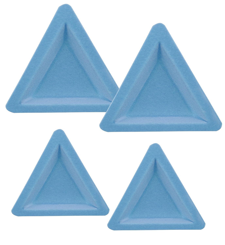 Beadalon 4-Piece Tri-Trays Flocked 2 Sizes