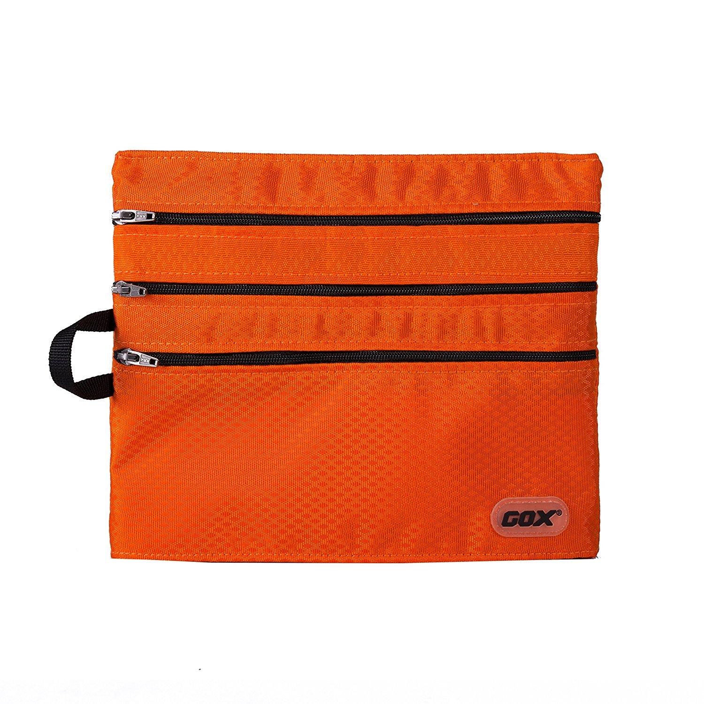 Travel Wallet Passport Holder Travel Document Orgnazier Pouch with 4 Zipper pockets for Women/Men/Family/Traveling, Orange