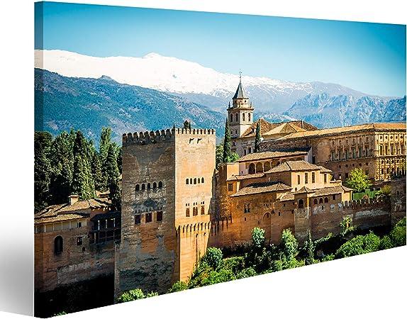 islandburner Cuadro Cuadros Vista de la Famosa Alhambra, Granada, España Genial y Muy Bonito! NOL: Amazon.es: Hogar