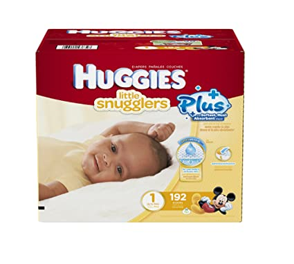 Huggies Little Snugglers Plus Taille 1, 192 Lot