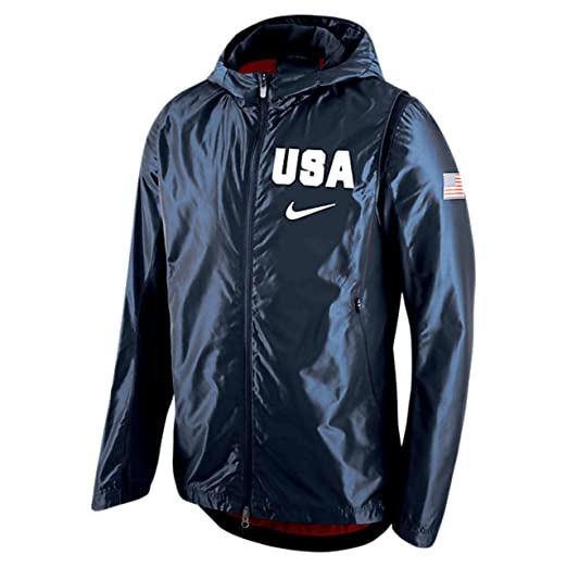 Nike Usa Basketball Hooded Hyper Elite Jacket Men S Navy At Amazon