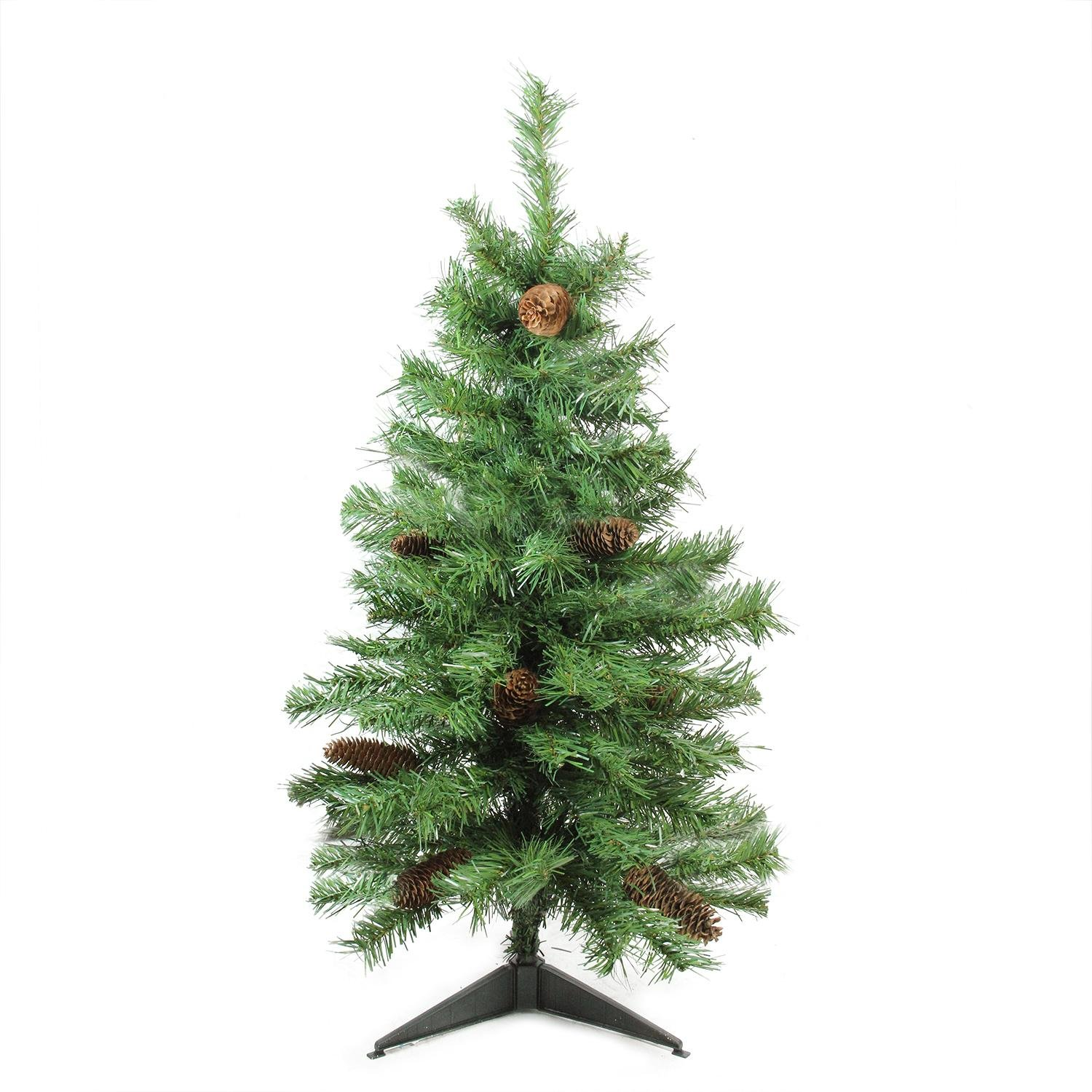 Northlight 3' x 22'' Dakota Red Pine Full Artificial Christmas Tree with Pine Cones - Unlit
