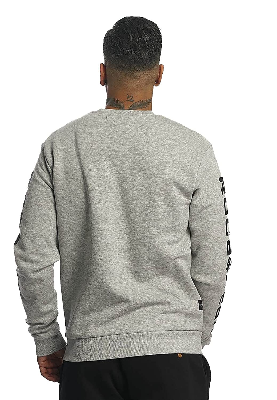 Rocawear Herren Sweatshirt CREWNECK R1701 K521 Black Schwarz