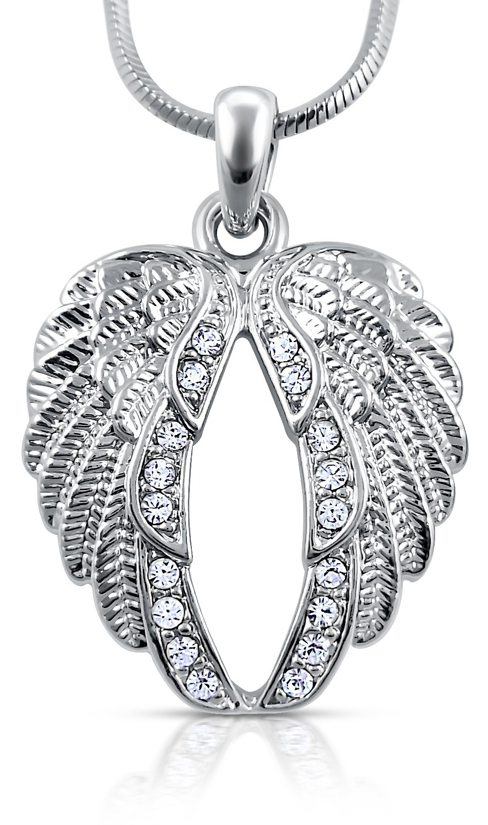 Guardian Angel Wings Pendant Necklace for Girls, Teens and Women