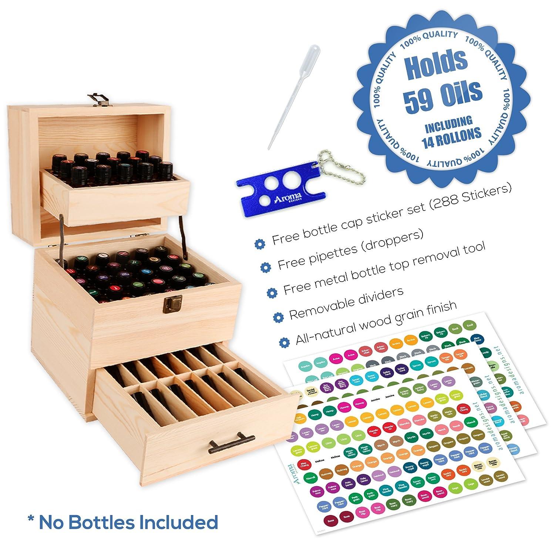 Amazon.com: Aroma Designs Caja de aceites esenciales de ...