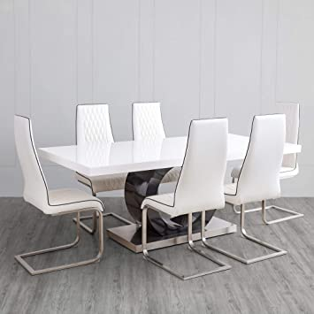 Brilliant Home Centre Bentley 6 Seater Dining Table Set With Chair Evergreenethics Interior Chair Design Evergreenethicsorg